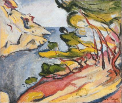 Cette toile s'intitulant 'la baie du bec d'aigle' est signée :