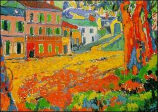 Qui a peint cette toile intitulée 'Restaurant de la machine à Bougival' ?