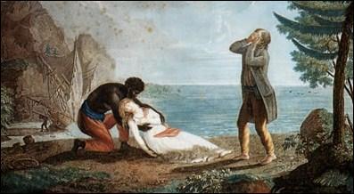 Qui mourut noyée devant Paul au large de l'île Maurice ?