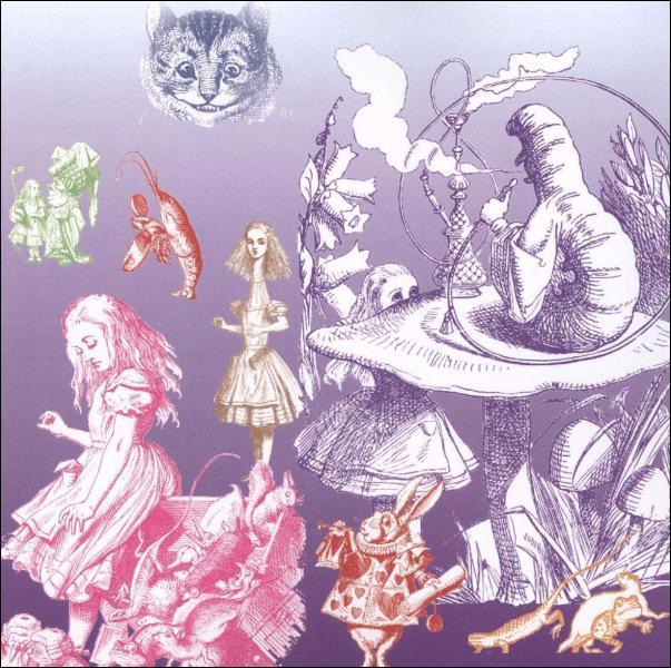 Qui Alice a-t-elle suivi au fond d'un trou ?