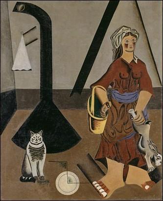 Ce tableau de 1922, « La fermière » a été peint dans sa période figurative. Qui en est l'auteur ?