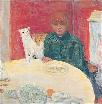 Quel peintre a peint ce tableau « La femme au chat », aussi intitulé « Le chat exigeant » ?