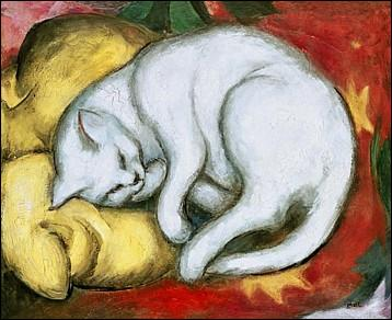 Quel peintre allemand du XXe siècle a peint ce « Chat blanc » ?