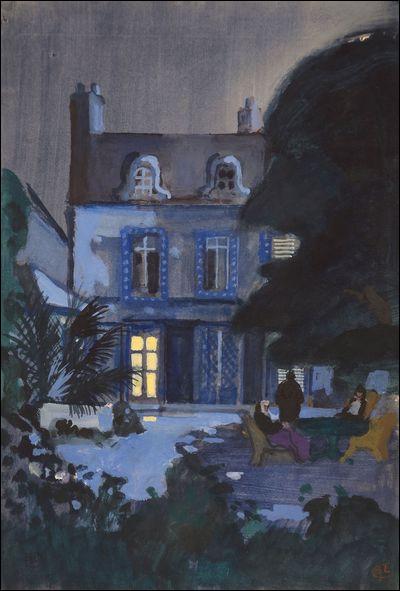 Voici une peinture de la maison de la tante de Proust, où il a passé son enfance : c'était à Combray. Dans quel département ?
