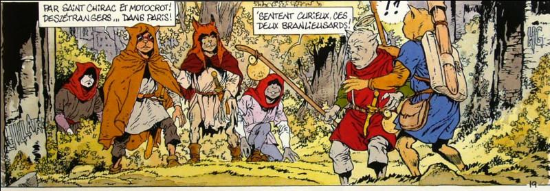 À quelle époque se déroule l'intrigue de la bande dessinée « Chats » ?
