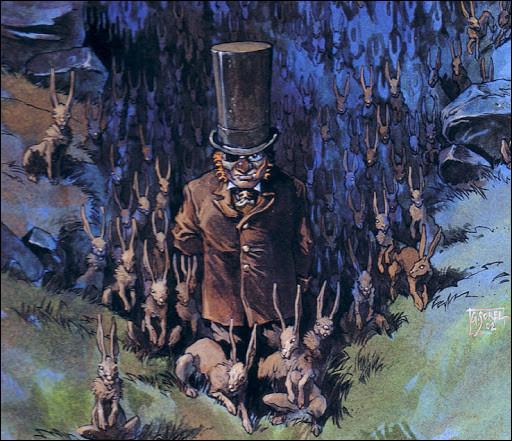 Comment se nomme cet homme de petite taille affublé d'un grand chapeau qui a la faculté de voir le monde des fées ?