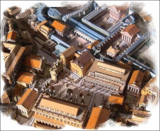 Ceci est une vue générale d'un lieu important à Rome