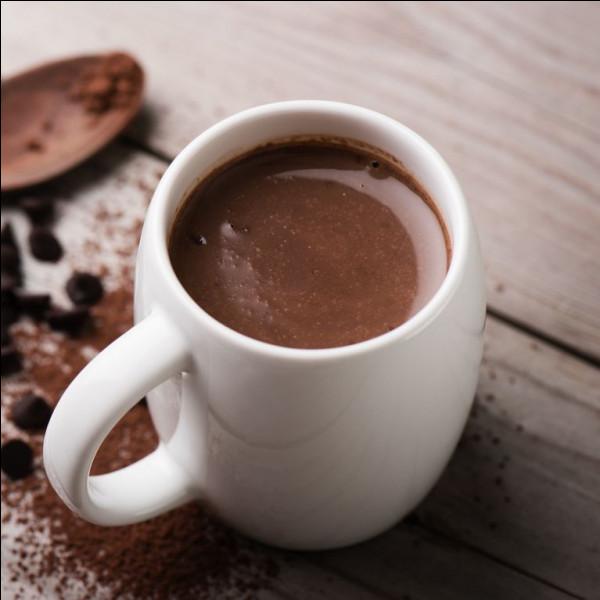Autrefois, le chocolat chaud soulageait les maux de ventre.