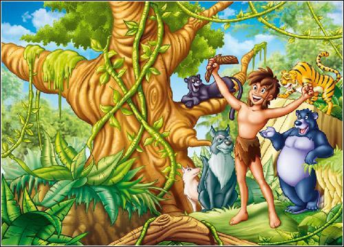 Comment se nomme le jeune héros de Kipling qui vit seul dans la jungle ?
