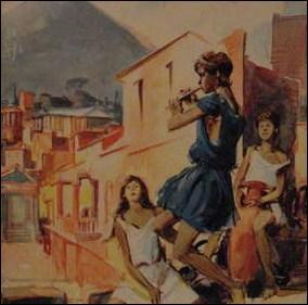 Quel est le nom de la jeune magicienne dans «Les Enfants de Pompeï» ?