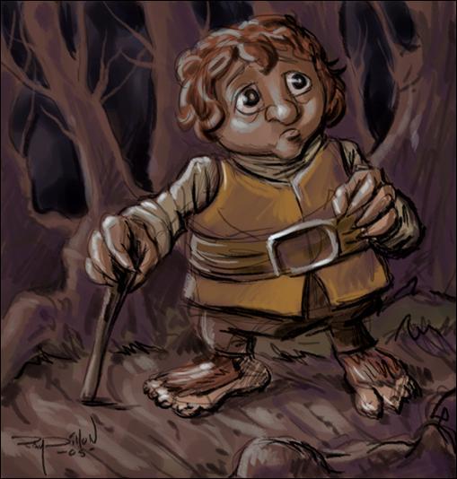 Qu'est-ce qui pousse aux pattes de «Bilbo le Hobbit» ?