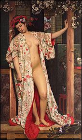 """Il explore le « japonisme », qu'il est le premier en Europe à prendre pour sujet en peinture. """"La Japonaise au bain"""" a été réalisée en 1864 par :"""