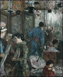 Le Magasin japonais est l'oeuvre d'un peintre allemand habitué des grandes scènes historiques