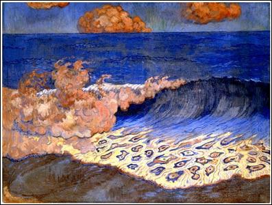 """C'est """"le Nabi sculpteur"""" qui a peint cette vague"""