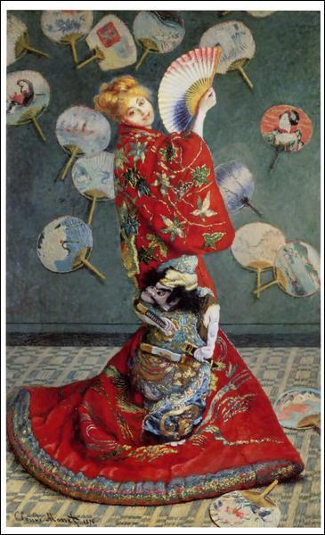 Sa collection d'estampes japonaises comptait pas moins de 350 oeuvres. C'est Camille Doncieux, son épouse, qui pose ici pour La Japonaise. Qui est l'artiste ?