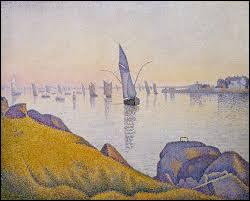 """""""Concarneau, calme du soir"""" c'est un post-impressionniste qui a composé cette marine."""