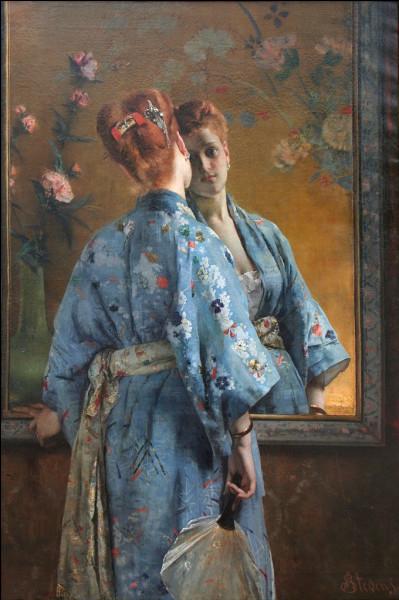 La parisienne japonaise (1872) , vue par une peintre belge :