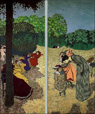 """Qui est """" le nabi zouave """" qui a peint ces """"Jardins publics"""" ?"""