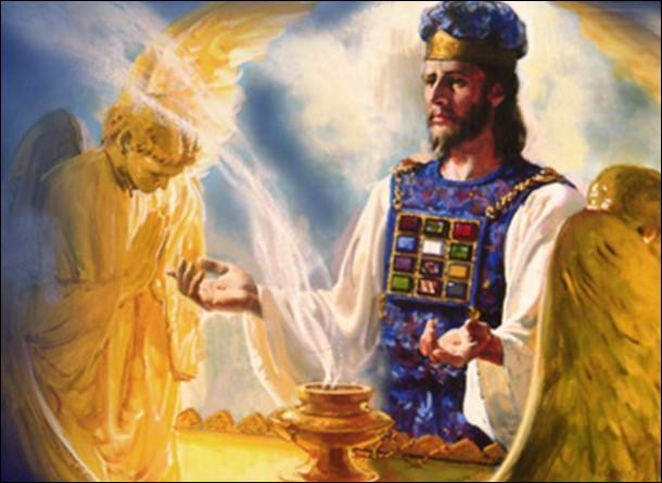 Au temps fixé le service du sanctuaire céleste entra en fonction. Qui est le sacrificateur ? Qui est l'agneau ?