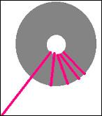 Il faut alors _______ un fil de laine autour des deux disques superposés.