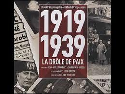 Comment appelle-t-on la période allant de 1919 à 1939 ?