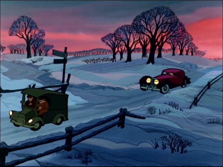 Qui conduit l'automobile située à droite sur l'image ?