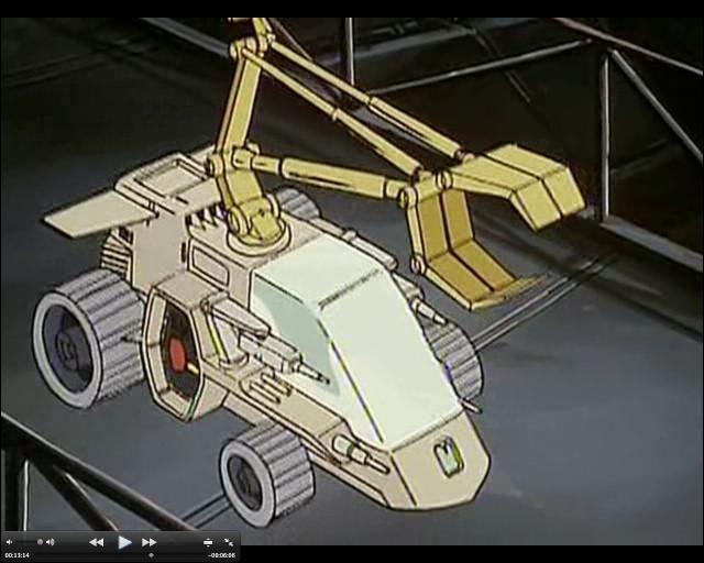 À qui appartient ce véhicule futuriste muni d'une pince ?