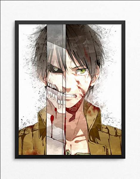 """Dans """"Shingeki no Kyojin"""", quel morceau du corps de cette victime d'Eren voit-on voler lorsqu'il se fait pour la première fois dévorer par un titan ?"""