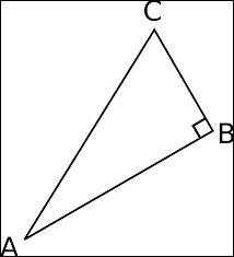 Dans le triangle ABC, en prenant l'angle ACB, le côté opposé est AB.