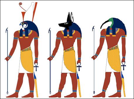 Complétez : Horus est l'une des plus anciennes divinités égyptiennes. Il était souvent représenté avec une tête...