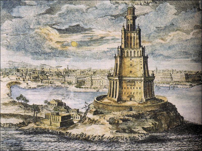 Quel monument d'Alexandrie faisait partie des sept merveilles du monde ?