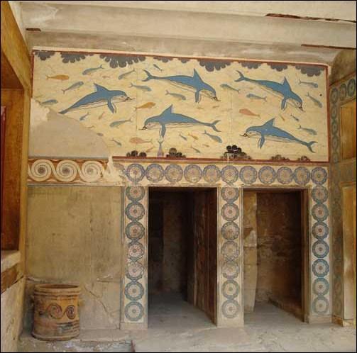 Dans quelle île se trouve le palais de Cnossos ?