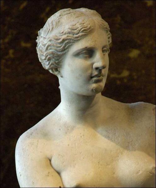 Quel est le bras de la Vénus de Milo entièrement manquant ?