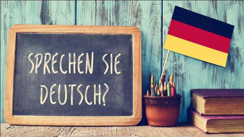 Et on retourne en Europe pour le dire en allemand !