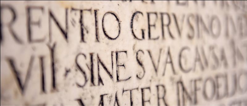 Puis une petite langue morte : comment le dit-on en latin ?