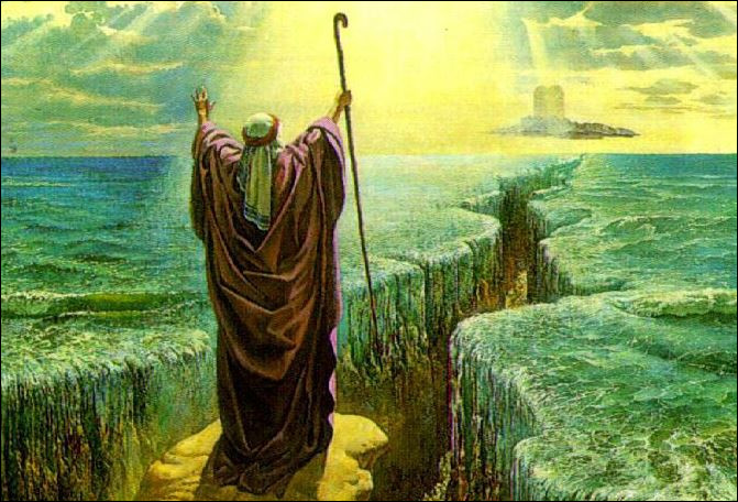 Théologie - Quelle étendue d'eau fait face à Moïse ?