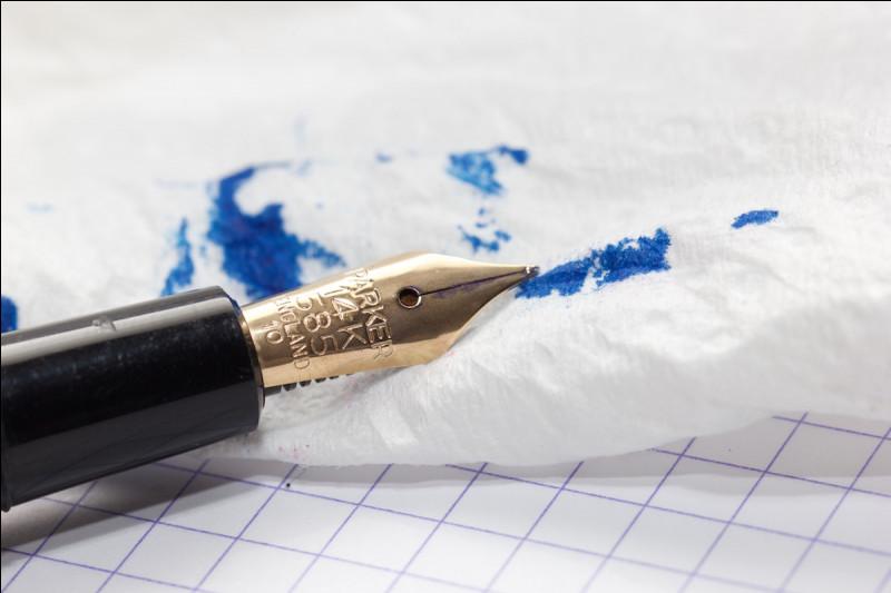 Ton stylo a-t-il déjà coulé partout ?