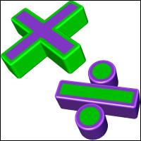 Toujours dans un calcul sans parenthèses : Dans une suite d'opérations avec uniquement des multiplications et des divisions, on calcule...