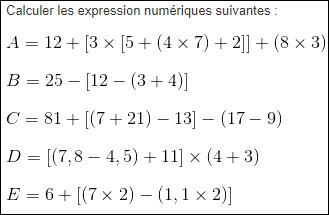Et dans un calcul avec parenthèses, si entre celles-ci il y a multiplications et soustractions, que va-t-on faire ?