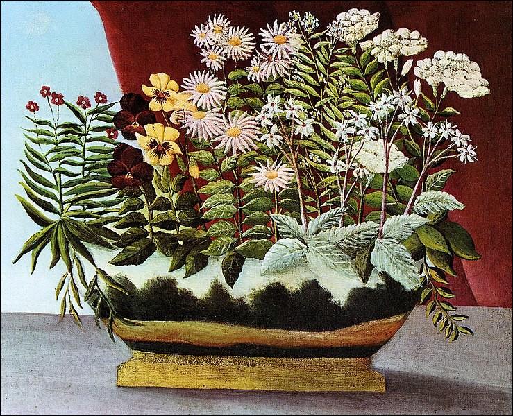 """Qui a peint """"Fleurs de poètes"""" ?"""