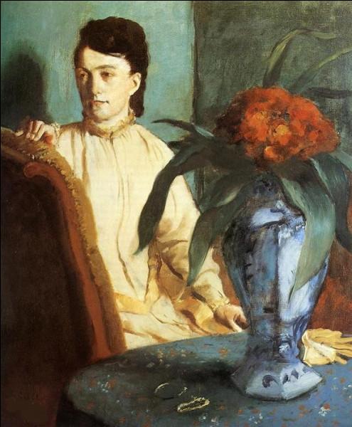 """Qui a fait le portrait de cette """"Femme avec un vase de fleurs"""" ?"""