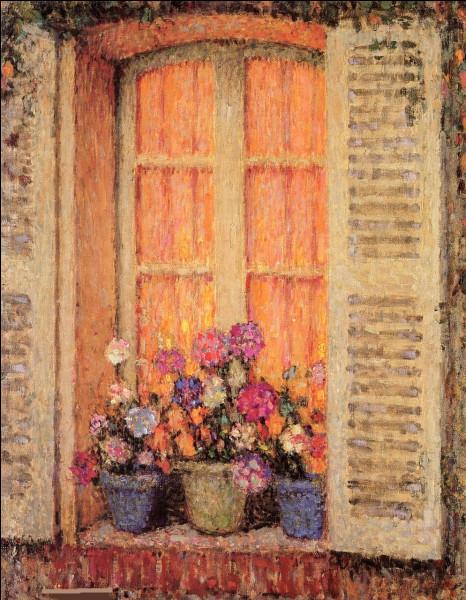 """Qui a peint """"Fenêtre aux trois pots de fleurs"""" ?"""