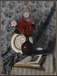 """Qui a peint """"Dahlia rouge et livre ouvert"""" ?"""