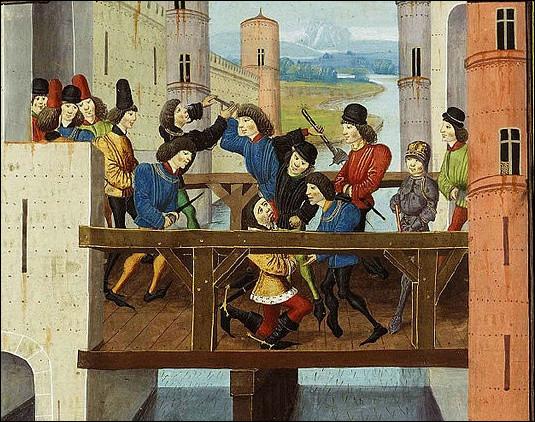 Quel événement s'est produit le 10 septembre 1419 sur le pont de Montereau qui va donner lieu a la guerre des Armagnacs contre les Bourguignons ?