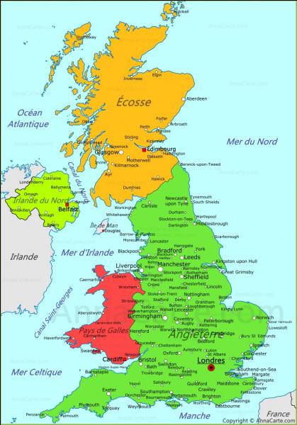 Quels pays forment le Royaume-Uni ?