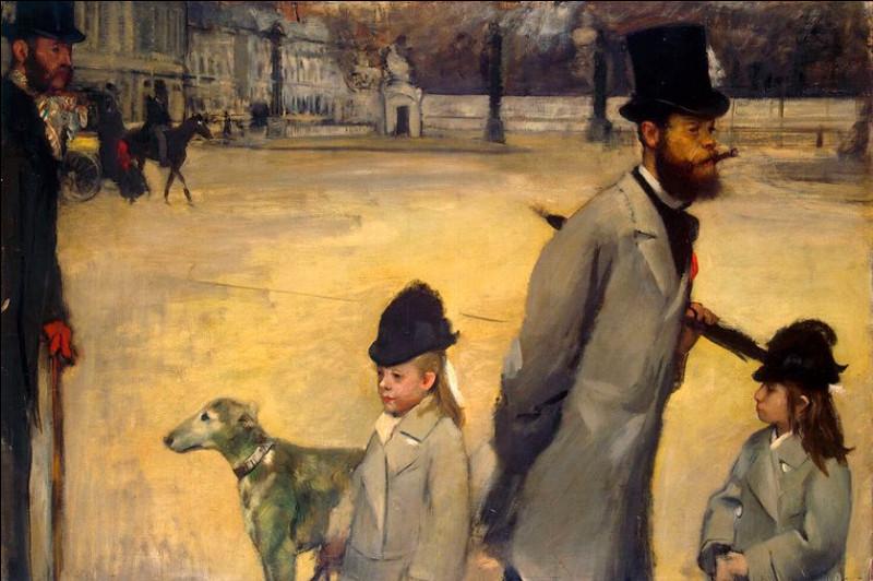 """Il n'a pas oublié le chien ! Qui a représenté Monsieur Lepic et ses filles traversant la place de la Concorde"""" ?"""