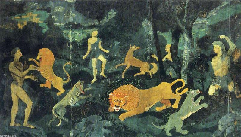 Qui a représenté cette scène animalière ?