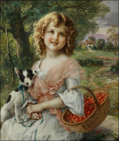 Qui a peint cette enfant et son chien ?
