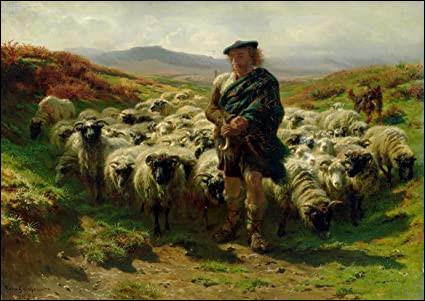 Qui a peint ce berger et son troupeau ?