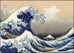 Comment s'appelle cette peinture célèbre représentant une vague ?